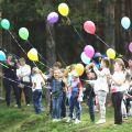 Запуск шаров выпускной